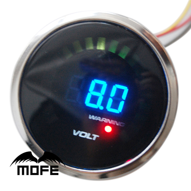 3PCS Original Logo 20PCS Analog LCD Digital Volt Voltage Voltmeter Meter Car 52mm Gauge