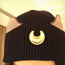 BONJEAN crescente de Crochê Bonés Chapéus de Inverno Para As Mulheres Da  Orelha de gato trançado de Malha Gorros cap Gorro Chapé. 9a4647523c9