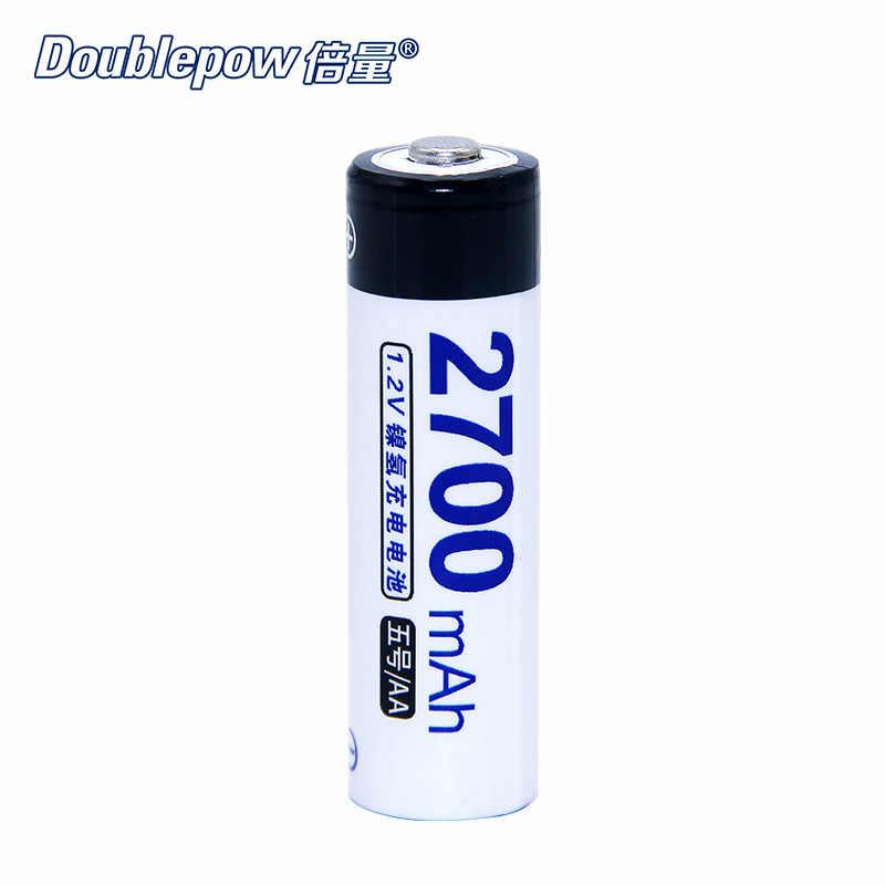 4 шт./партия DP-AA/AAA 1,2 в doulepow аккумуляторная батарея 800 мАч-2700 мАч в фактической большой емкости батареи сотового Бесплатная доставка