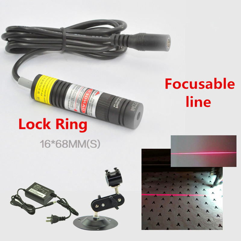 Focusable With Lock Ring 650nm 10mw 50mw 100mw 150mw 200mw Laser Line Module For Clothes Cutting / Wood Cutting Mechanical