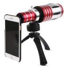 Orbmart 50X оптический зум Алюминий телефото объектива телескопа + Штатив чехол для iPhone 6 6S 6S плюс Samsung S6 S5 S4 Note 4 3