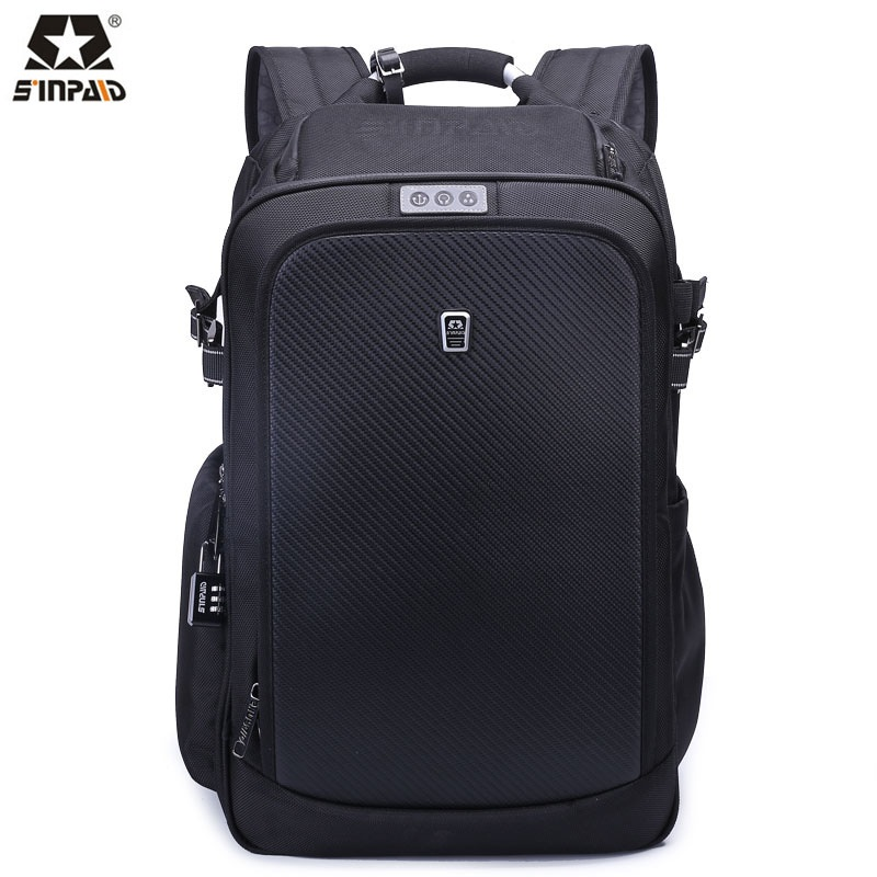 Sinpaid New 15 6 inch business latop bag anti theft waterproof backpack leisure travel package with