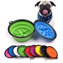 Feeding-Bowl Gulp-Feed Travel Dish Puppy Anti-Choke Dog Cat Foldable Bowls Pet-Slow Bloat