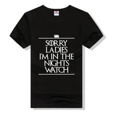 Game Of Thrones Men's Fashion T-Shirts Brand Clothes O Neck Short Sleeve White T Shirt Men Letters Sorry Ladies Tops & Tees