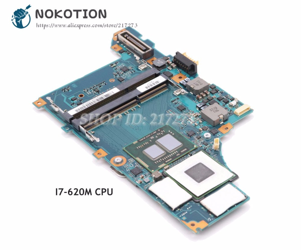NOKOTION For Sony Vaio VPCZ1 VPCZ1390X Laptop Motherboard A1754727A A1789397A MBX-206 Main Board DDR3 I7-620M CPU