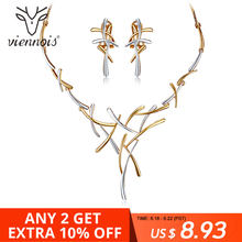 Viennois Cross Jewelry Set For Women Silver/Gold/Gun Color Metallic Earrings Statement Punk Style Female Party Jewelry 2019(China)