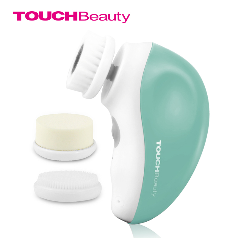 TOUCHBeauty rotary electric facial equipments cleansing brush,USB rechargeable face brush travel kit TB-1387
