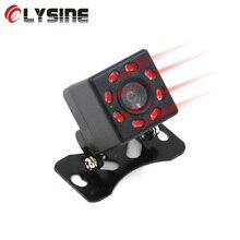 Olysine 8 LED IR visión nocturna cámara trasera impermeable cámara de aparcamiento de respaldo Universal gran angular cámara de visión trasera del coche