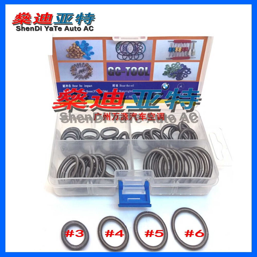 Automotive air-conditioning leak O-ring joints Transit plug coil tension spring ring gasket repair parts Tools air conditioning