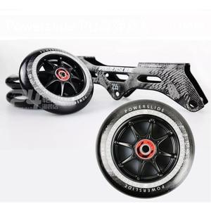 Image 5 - 100% מקורי Powerslide מהירות סקייט מסגרת 3*110mm 255mm עם 110mm Powerslide החלקה גלגלים עבור 165mm מרחק Patines בסיס