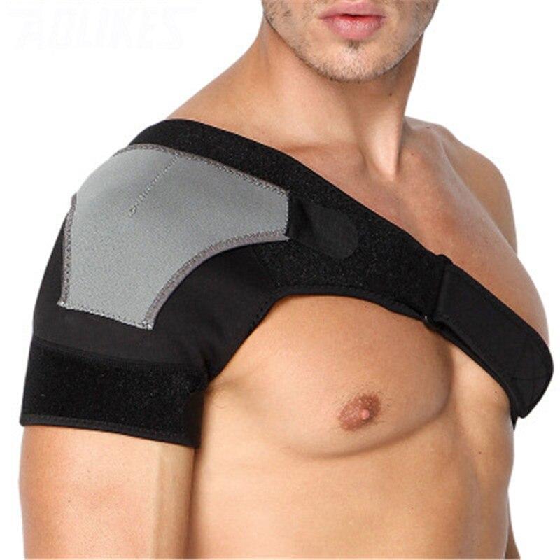 Adjustable Left/Right Shoulder Bandage Protector Brace Joint Pain Injury Shoulder Support Strap Training Sports Equipment