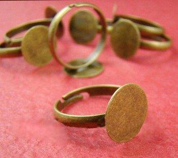 free shipping!!!!!400pcs/lot  12MM Antique Bronze Nickel Free Ring Base