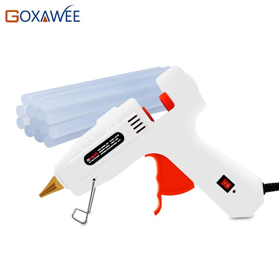 Goxawee Hot Melt Pistola de Cola Elétrica 20 W 80 W 105 W com 10 pcs Bastões de Cola de Calor Temperatura Armas thermo Gluegun Reparação Ferramentas de Calor
