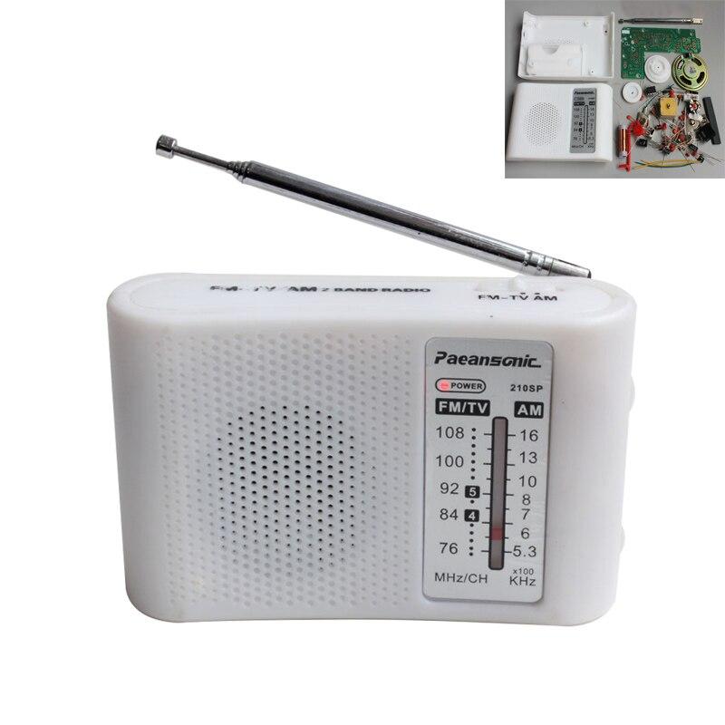 CF210SP AM/FM стерео радио Набор Сделай Сам электронный сборный набор портативный FM AM радио DIY части для ученика
