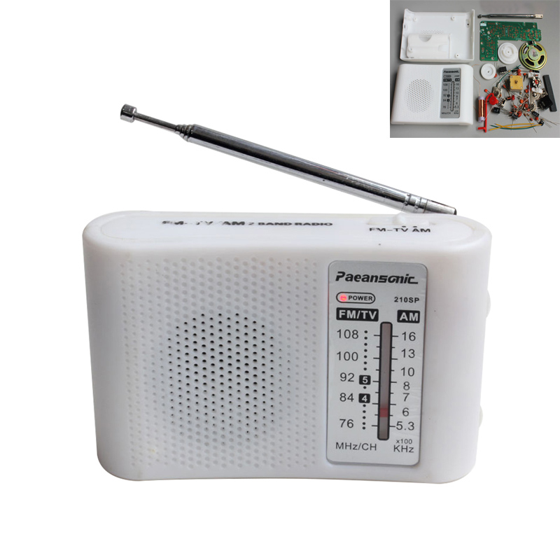 CF210SP AM/FM Stereo Radio Kit DIY Electronic Assemble Set Kit Portable FM AM Radio DIY Parts For Learner