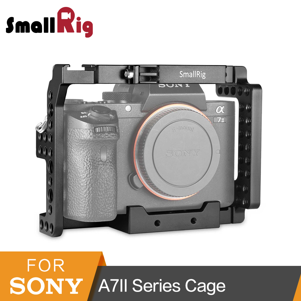 Smallrig Caméra Cage Pour Sony A7II/A7RII/A7SII ILCE-7M2/ILCE-7RM2/ILCE-7SM2 Cage Rig-1660
