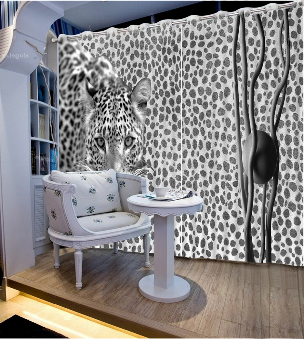 Living room furniture names - Noenname_null High Grade Quality Blackout Curtains Lifelike Wild Leopard Bedroom Living Room Sunshade Window Curtain