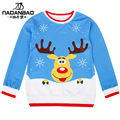2015 autumn winter new pull-over loose digital printing cute deer t shirt for junior girl ladies Christmas Gift