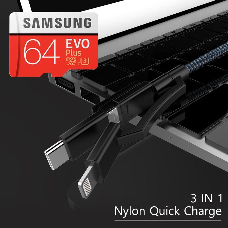 Original SAMSUNG EVO Plus Microsd Cards Memory Card 64G 128GB 64GB 32GB micro sd card 100Mb/s Class10 Micro SD TF Flash Card