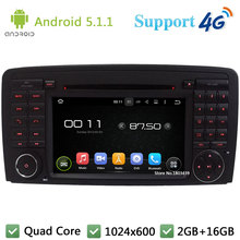 Quad Core 1024*600 Android 5.1.1 Car DVD Player Radio Stereo 4G GPS Map For Mercedes-Benz R Class W251 R280 R300 R320 R350 R500