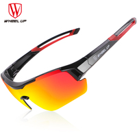 WHEEL UP 3 Lens UV400 Cycling Eyewear Men Women Waterproof Coating Aerodynamic Bicycle Polarized Sunglasses MTB Cycling Glasses