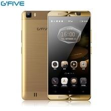 Оригинал Gfive MT6580M L3 5.5 дюймов Мобильный Телефон Android Quad Core смартфон 2 ГБ RAM 16 ГБ ROM Двойная Камера Sim 5000 мАч Сотовый Телефон