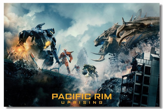 Custom Canvas Wall Art Pacific Rim Uprising Poster Wallpaper Kaiju Gipsy Avenger Stickers Cherno