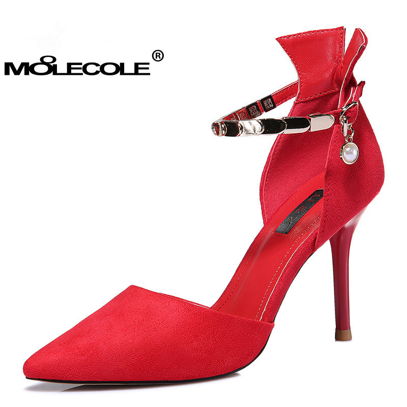 2017 Hotselling rouge Mariage Noir Pour Moolecole 34 Taille 39 Le Femmes Chaussures Parti À Eur Talons Hauts Sandales XOiuPkZ