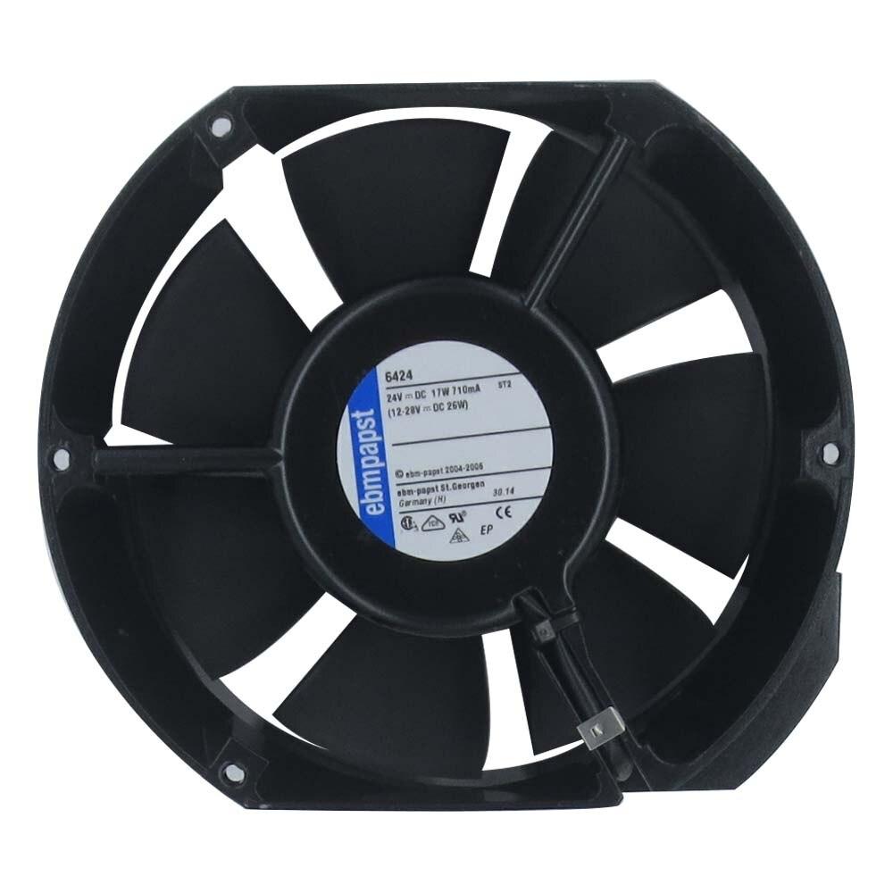 Ebmpapst 6424 Axial Cooling Fan, Size 150 X 172 X 51mm 24 V DC, Air Flow 410m3/h, 3400rpm