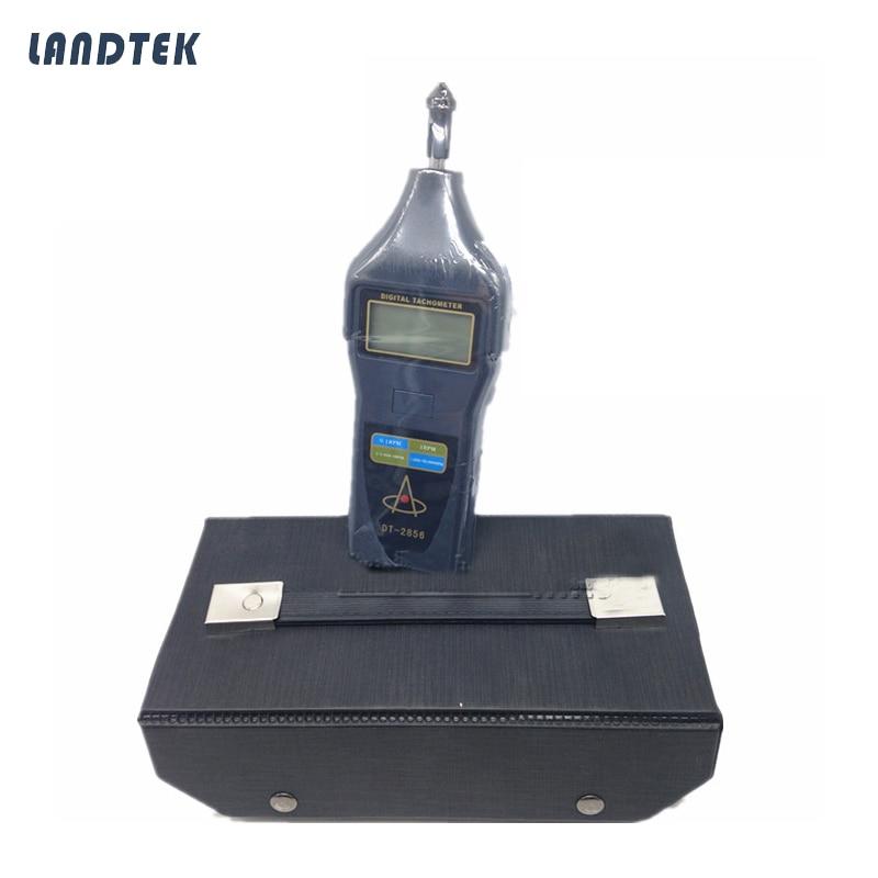DT-2856 Handheld Digital Laser Tachometer Rotative velocity laser 2.5-99999r/min photo touch type tachometer dt 2856