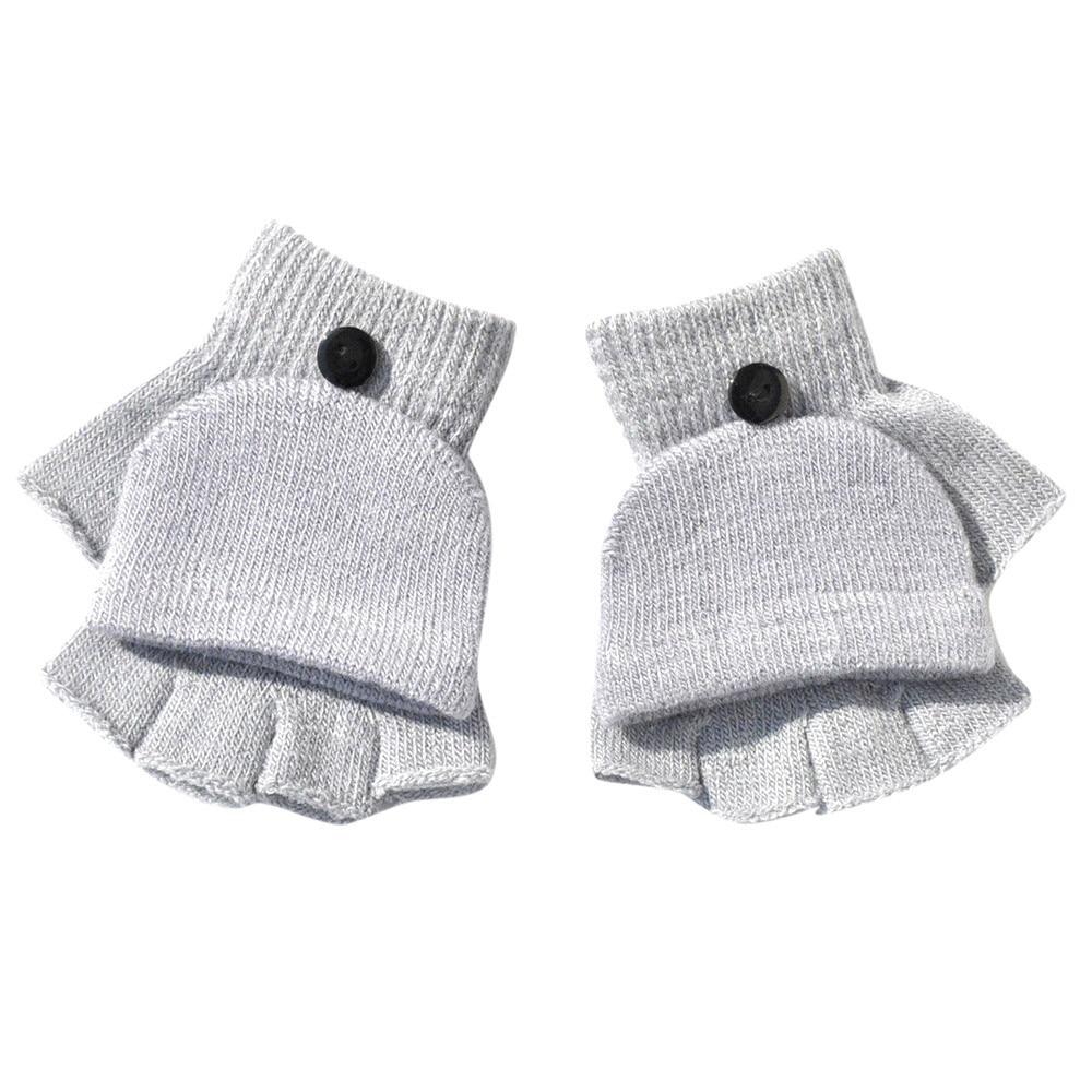 Kid Winter Handschuhe Jungen Mädchen Winter Fäustlinge Hand Handgelenk Wärmer Kinder Warm Halten 11x10 Cm Flip Abdeckung Fingerlose Handschuhe
