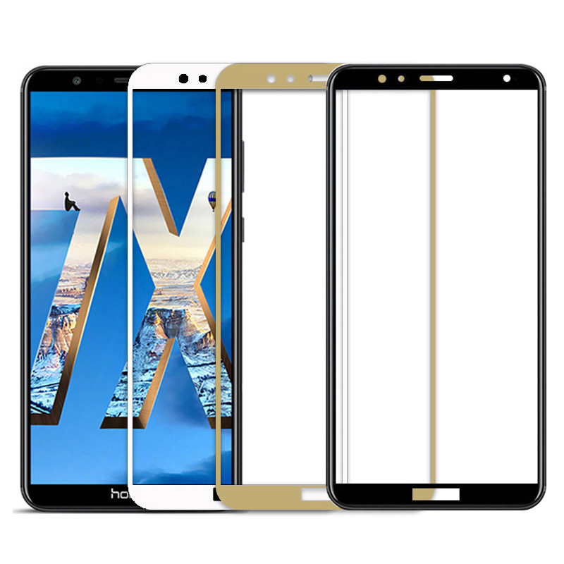 Image 3 - Protective Tempered Glass on the For huawei Honor 7A Pro 7X 7C honor7a honor7c Hono 7 A C X A7 C7 X7 Glass screen protector Film-in Phone Screen Protectors from Cellphones & Telecommunications