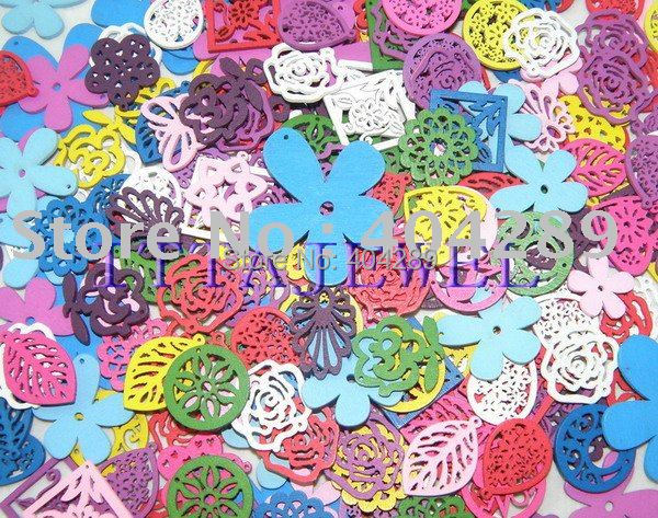 1000pcs  Wood Charm Pendant DIY Jewelry Accessory
