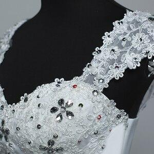 Image 5 - Real Photo Wedding Dress 2020 Hot Koop Applicue Eenvoudige Lace Goedkope Wedding Gown Met Kralen Vestido De Noiva Geïmporteerd china