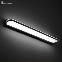 Acrylic Modern Led Wall Light For Bathroom Mirror Front Lights AC110V 220V Led Sconces Wall Lamp Bathroom Lamp120 100 80 60 40cm