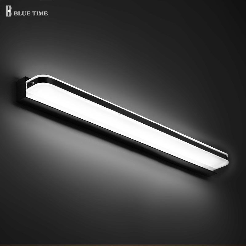 Modern Bathroom Mirror Front Light Led Wall Light Lamps Wall Mounted Bathroom Sconces Wall Light LED Wandlamp 100cm 80cm 60cm acrylic bathroom mirror front light led wall lamp modern for bathroom bedroom led sconces wall lights luminaria 120 100 80 60cm
