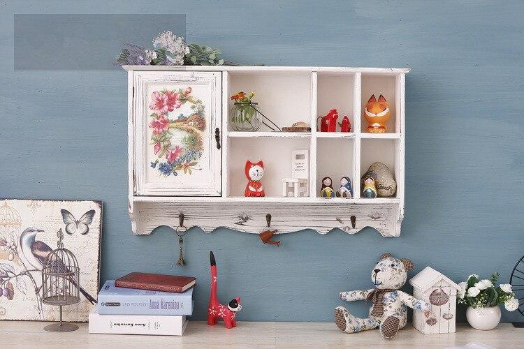 1 шт. Творческий Ретро Настенный декор ящика шкафы деревянные комнаты Спальня шкафчики, гардероб с коробка для хранения ENM 008