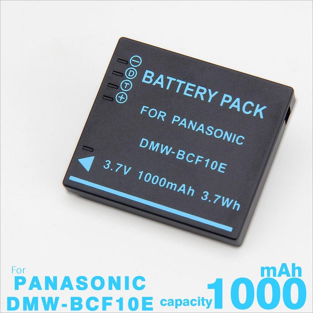 Bateria para Câmera Panasonic Lumix CGA-S/106C CGA-S/106D CGA-S/106B DE-A59B DE-A60B DMW-BCF10E DMW BCF10E DMW-BCF10 DMC-FS30