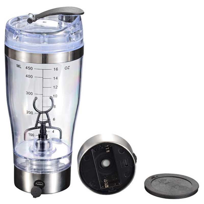 450 ml automático portátil agitação liquidificador alimentado por bateria auto agitando leite copo copo de café elétrico garrafa de água inteligente