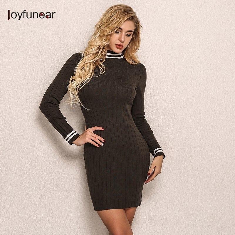 Joyfunear Women Knitted Warm Mini Dress 4DAK284