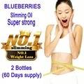 2 Garrafas de extrato de Mirtilo blueberry emagrecimento celulite emagrecimento perda de peso da dieta Super forte