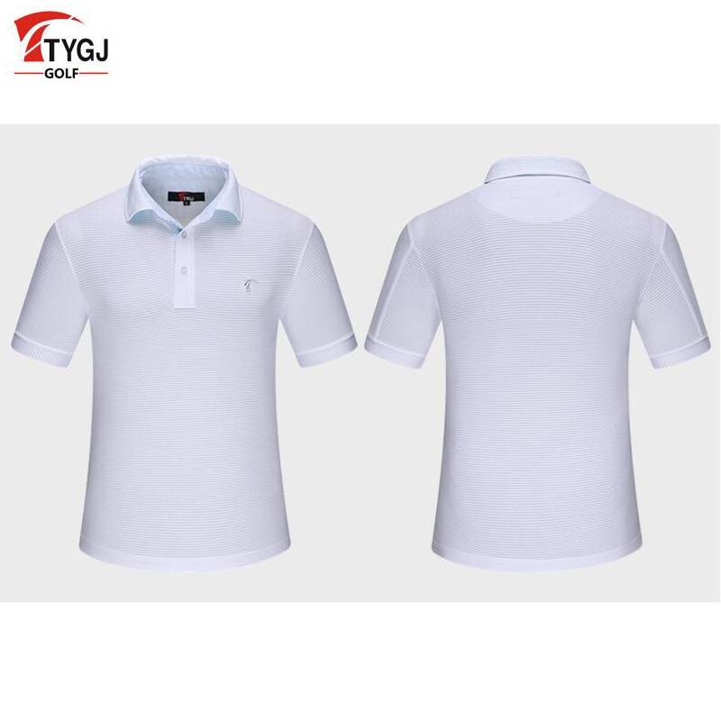 Ropa de golf ttygj nuevos mens 3 colores de golf de manga corta t-shirt s-xl en