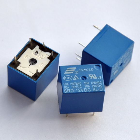 ( 5 Pcs/lot )  12V SPDT Relay, 250V AC/30V DC, 10 Amp