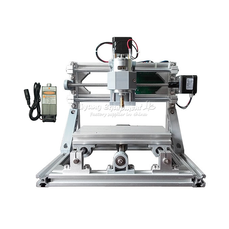 Russia tax-free shipping Mini CNC 1610 + 500mw laser CNC engraving machine diy lathe with GRBL control eur free tax cnc 6040z frame of engraving and milling machine for diy cnc router