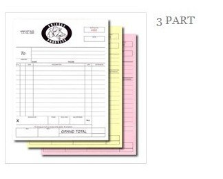 A Triplicate Invoice Book Manifest Sales Receipt Note Docket - 3 part invoice book