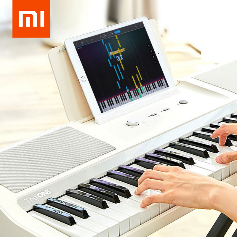 Xiaomi Youpin Keyboard Piano TheONE TOK1 61-Keys Strength Sensing Smart Electronic Organ Toy Music Instrument Support EarphoneXiaomi Youpin Keyboard Piano TheONE TOK1 61-Keys Strength Sensing Smart Electronic Organ Toy Music Instrument Support Earphone