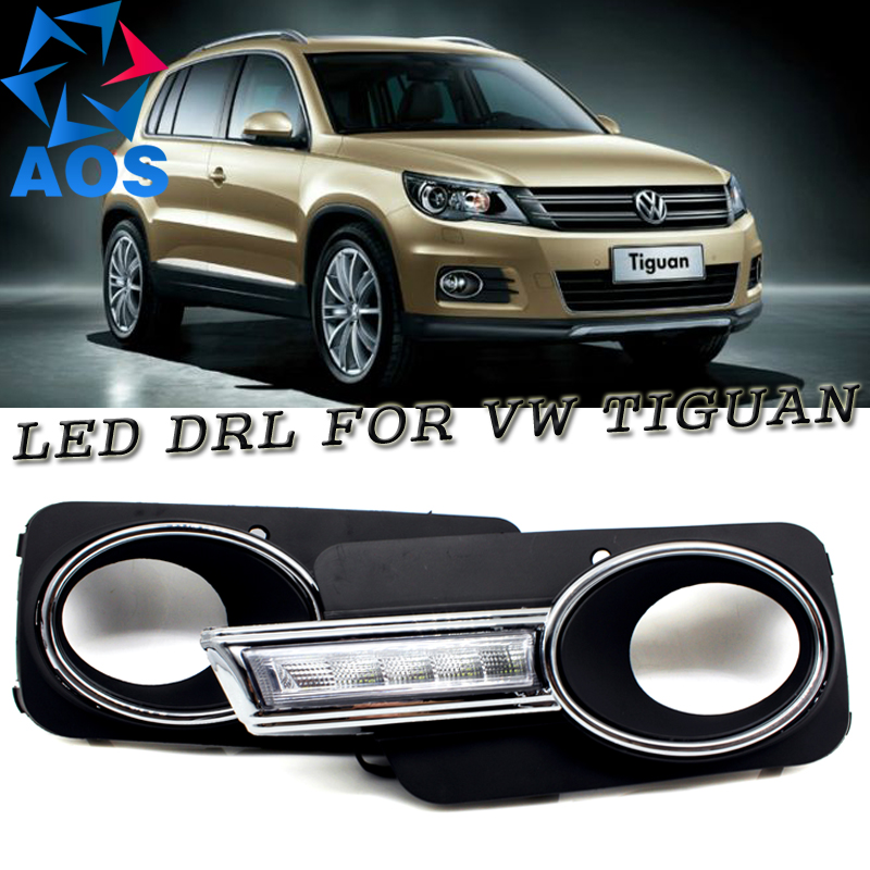 Factory wholesales Auto LED Daytime Running Lights car styling DRL for VW Tiguan 2009 2010 2011 2012