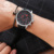 Ochstin marca nova moda casual homem leater cinta cronógrafo masculino relógio militar do exército esporte relógio de pulso de luxo relógio de quartzo gq049