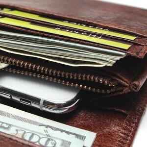 Image 5 - แบรนด์หรูใหม่ 100% ของแท้หนังCowhideคุณภาพสูงผู้ชายยาวกระเป๋าสตางค์เหรียญกระเป๋าVintage DesignerชายCarteiraกระเป๋าสตางค์