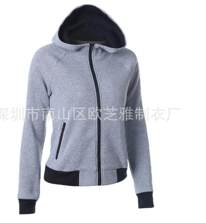 20pcs/lot! Hot sales! Autumn Winter Zipper Design Casual Long Sleeve Hooded Sweatershirt